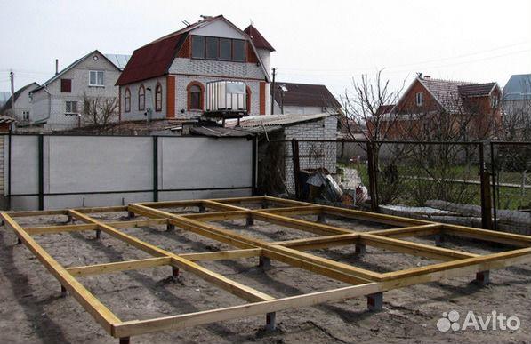 Основание для дачного дома на сваях