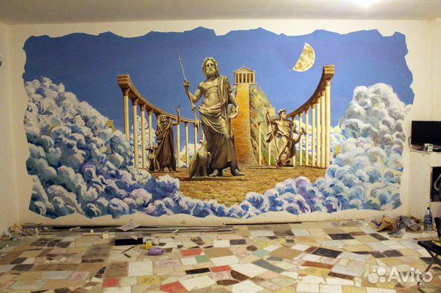 Роспись стен и роспись потолков в Москве Роспись интерьера