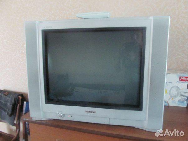 Щёлкните для просмотра следующей фотографии.  Телевизор sharp 21J-FG1RU.
