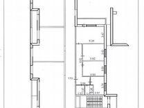 3-к квартира, 75.8 м², 16/17 эт.