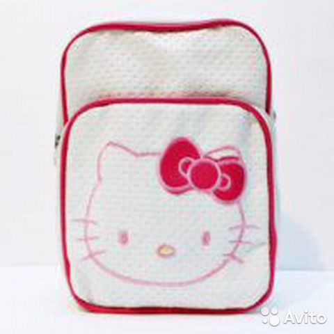 Сумка Hello Kitty большая, новая, белая виниловая— фотография №1