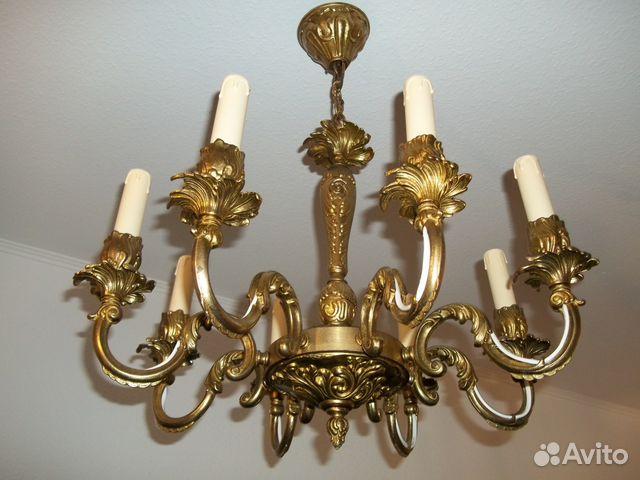 Антикварные люстры, масляные лампы, торшеры