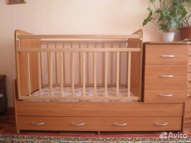 Кровать трансформер для новорожденных б/у