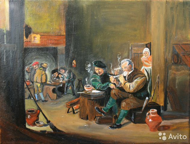 Smokers AT Tavern, Copy of David Tenneirs, 2017