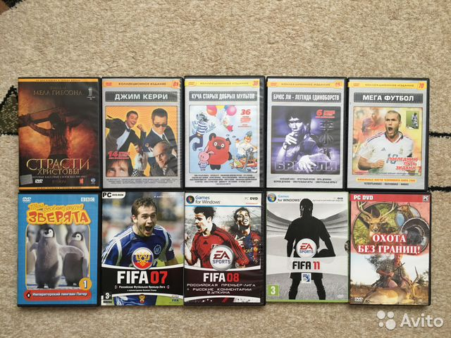 Dvd диски фильмы и игры