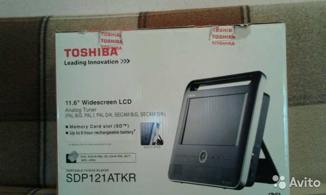 Телевизор Toshiba SDP121atkr portable tv/dvdplayer купить в