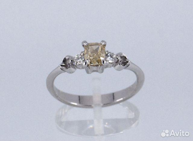 12580cfe088e Кольцо золотое с цветным и белыми бриллиантами   Festima.Ru ...