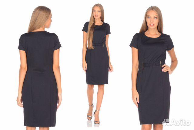 65f683e7d2c Новое элегантное трикотажное платье р.46