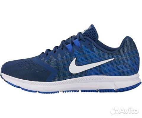 3f3bd5db Беговые Кроссовки Nike 908990 Air Zoom Span 2 син— фотография №1