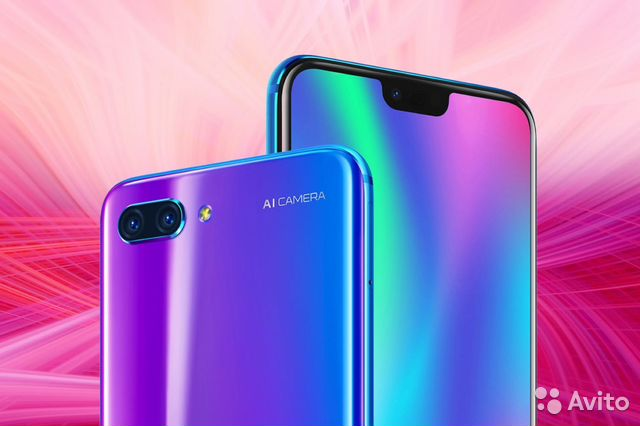 5897ea8473811 Huawei Honor 10 4/128gb синий купить в Санкт-Петербурге на Avito ...