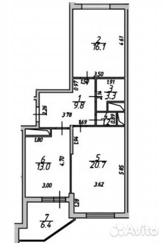 Продается двухкомнатная квартира за 3 850 000 рублей. Раменское, Московская область, Северное шоссе, 42.