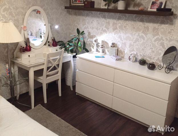 туалетный столик с зеркалом икея хемнэс плюс стул купить в