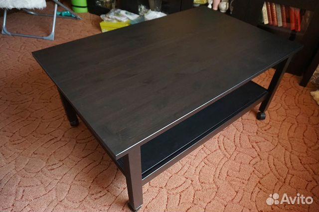 журнальный столик Ikea хемнэс черныйкоричневый купить в москве на