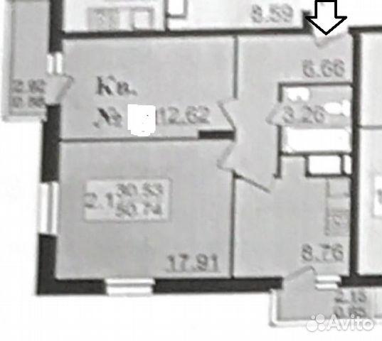 Продается двухкомнатная квартира за 4 800 000 рублей. г Казань, ул Рауиса Гареева, д 109.