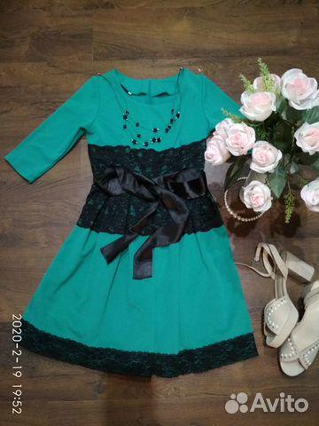 Платье с кружевом 40-42 89107280074 купить 1