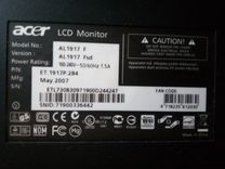 Монитор Acer AL1917F — Товары для компьютера в Перми
