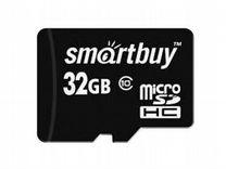 Карта памяти smart BUY microSD 32GB Сlass 10 +SD