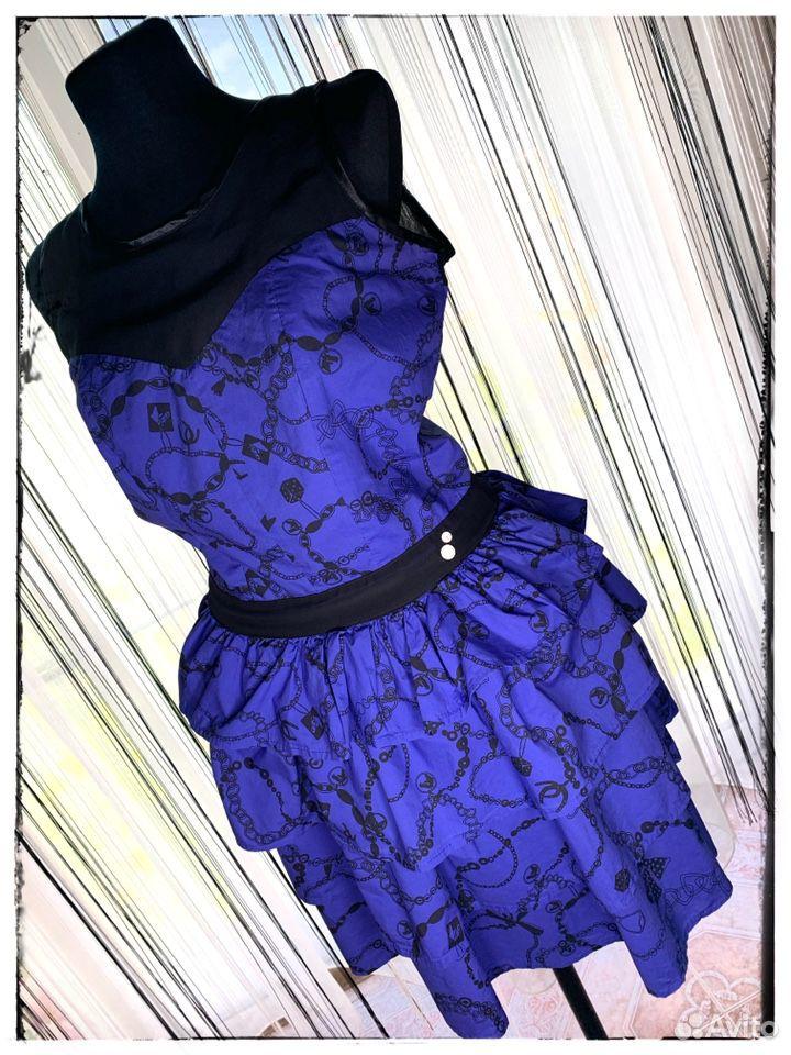 Платье Hooch с рюшами,из хлопка,новое