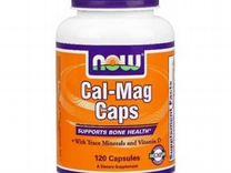 Витамины и минералы NOW Cal-Mag Caps 120 капс