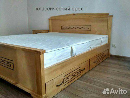 Кровать, матрас, тумба, комод из массива дерева  89023272899 купить 1