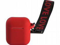 Чехол для AirPods красный