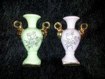 2 вазочки, фарфор, Франция, Limoges — Мебель и интерьер в Москве